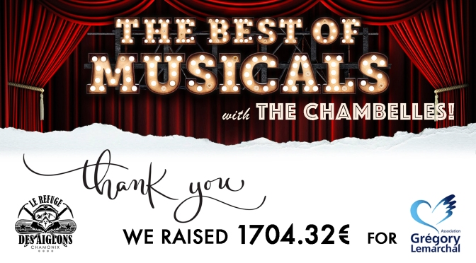 1704.32€ raised by the Chambelles!