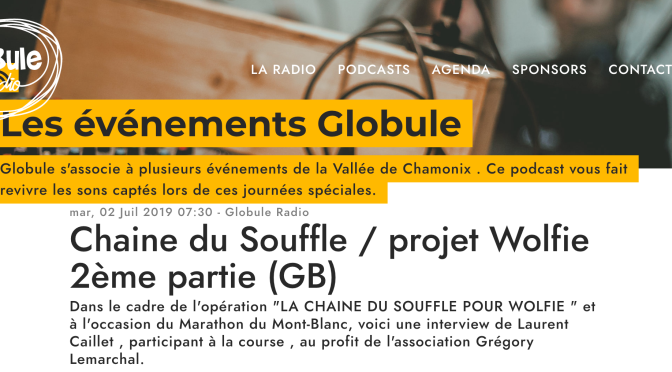 Interview Globule radio (EN and FR)