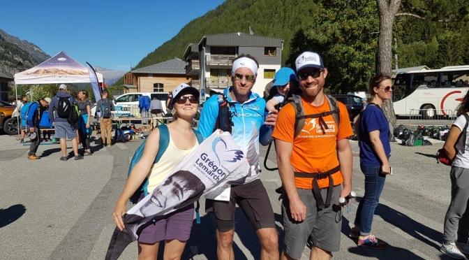 Laurent a terminé sa dernière course: Le Trail des Aiguilles Rouges